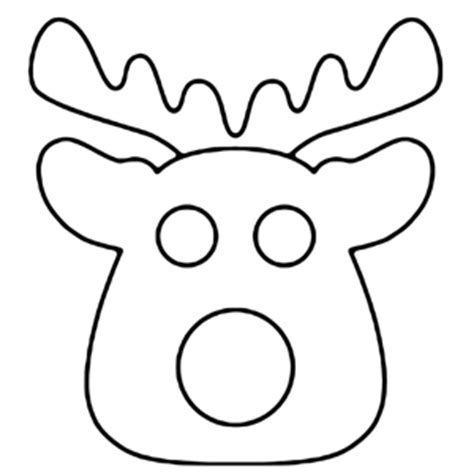 Reindeer Cut Out Template by Cut Out Reindeer Template Merry Happy New
