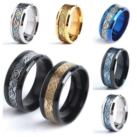 mens wedding ring z 4 mens silver gold black wedding celtic ring band many sizes k z4 mn24 ebay