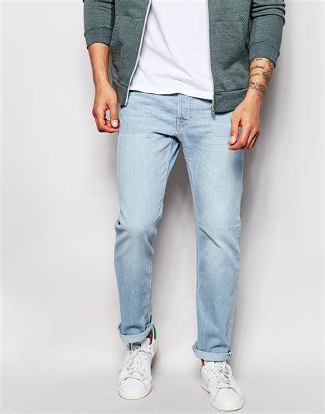 light jeans mens lee jeans jeans powell slim fit low waist summer wind