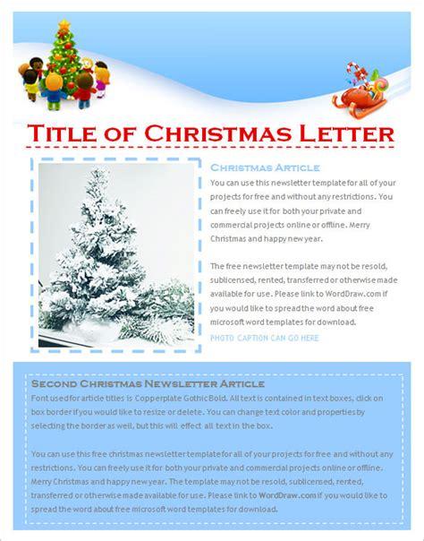 christmas newsletter templates editable psd ai
