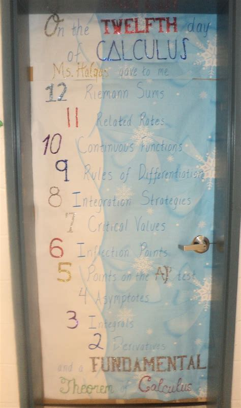 12 Days Of Christmas Door Decorating Ideas Elitflat