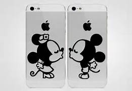 of Mickey And Minn...Mickey Mouse And Minnie Kissing