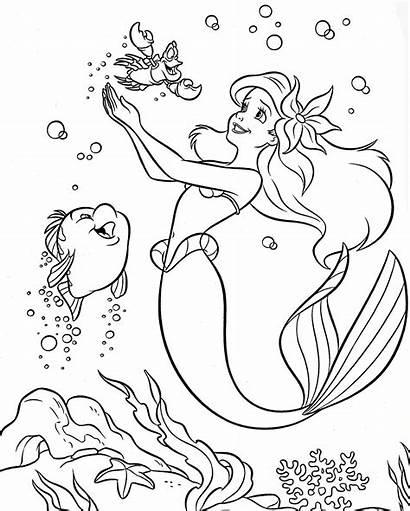 Disney Coloring Walt Pages Colouring Princess Ariel