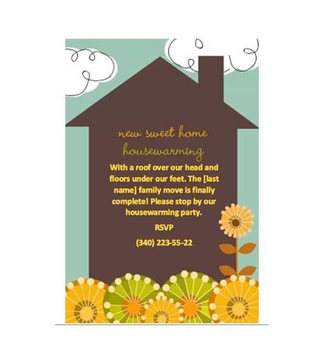 invitation cards templates for housewarming 40 free printable housewarming invitation templates
