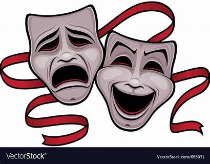 Masks Comedy Tragedy Theater Vector Royalty Making