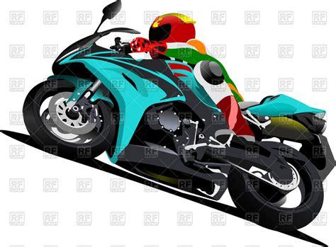 Sport Bike With Biker Vector Image #51879