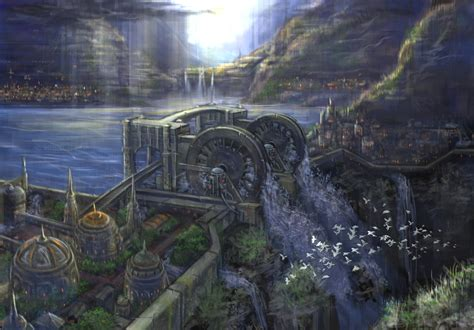 fantasy art dam village  leephung  epilogue