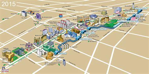 las vegas strip map  casinos hotels attractions
