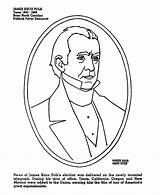 Sideburns Coloring James Polk Template Pages Presidents Usa sketch template