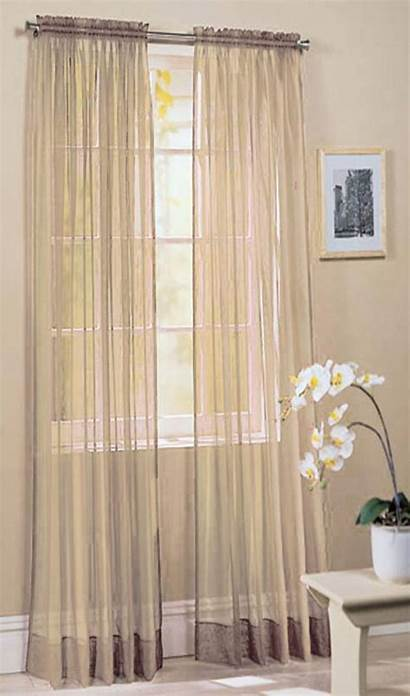Voile Panel Ivory Curtains Slotted 150cm Curtain