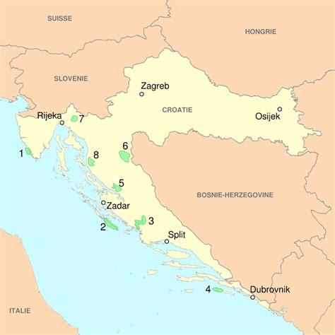 Carte Du Monde Croatie by Carte V 233 G 233 Tation Croatie Carte Des V 233 G 233 Tations De Croatie