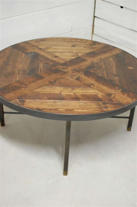 wellington  industrial wood coffee table southern
