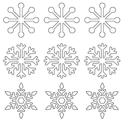 Snowflake Template Best 25 Snowflake Shape Ideas On Snowflake
