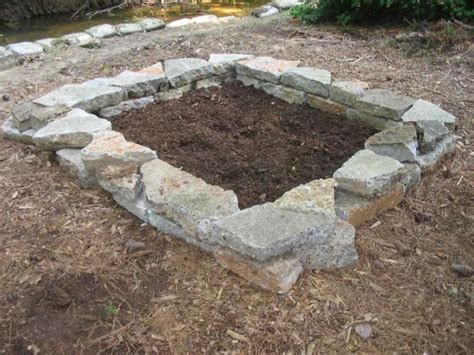 bed garden how to build a stone raised bed hgtv
