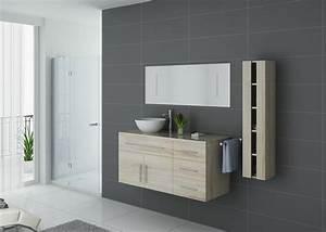 Meuble Simple Vasque : meuble salle de bain ref arezzo sc ~ Teatrodelosmanantiales.com Idées de Décoration