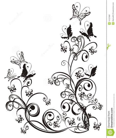 floral ornament vector royalty  stock images image