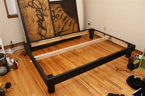 diy queen size platform bed projects  diy