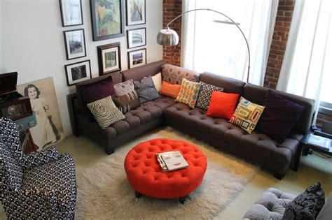orange ottoman coffee table round orange ottoman decoist