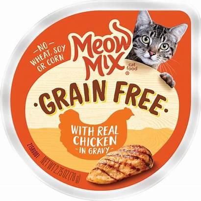 Wet Cat Grain Chicken Meow Mix Gravy