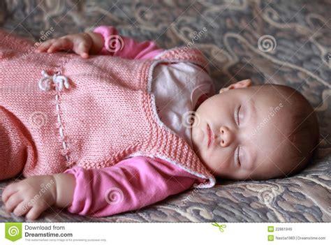 beautiful baby girl sleeping royalty  stock images