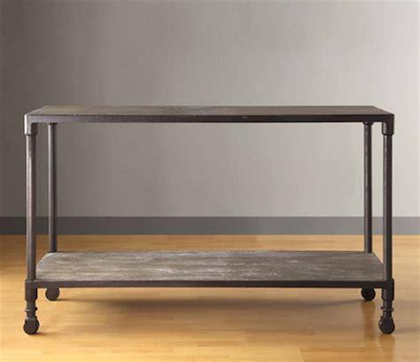 restoration hardware sofa table restoration hardware dutch industrial console table look 4