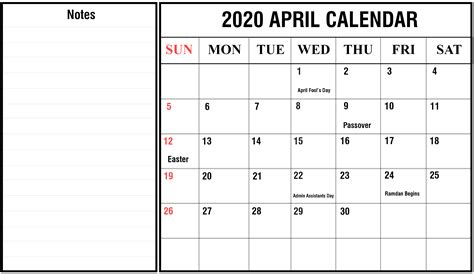 schedule month april printable calendar wiki