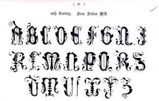 schriftarten design typography alphabet ornate italian 10th century 27 types of ty pog ra phy