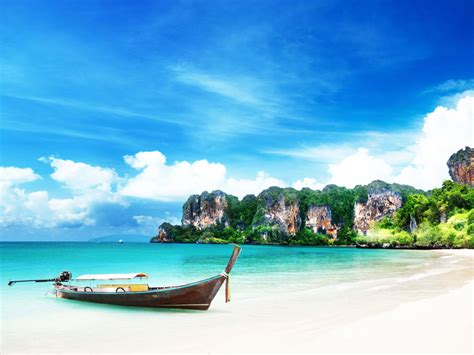 Railay Beach The Beautiful Beach In Thailand Thailand