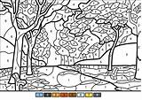 Coloring Fall Trees Printable Tree Sheets Paint Numbers Colour Supercoloring Worksheets Nature Adult Bible Castle Gutsy Bouncy Crafts Categories sketch template
