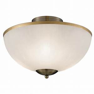 Brahama ab antique brass ceiling light