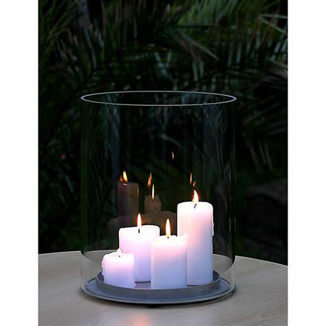 large glass candle holder candletube opossum design