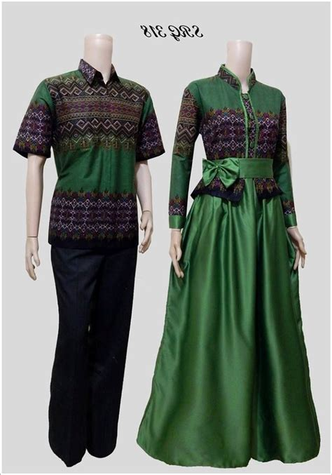 model baju couple batik  muslim  kekinian