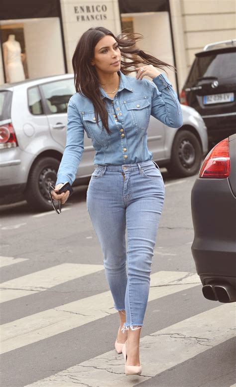 KIM KARDASHIAN WEST' STREET STYLE DENIM FASHION LOOKS ...