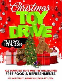 Holiday Toy Drive Flyer Template Customizable Design Templates For Charity Postermywall