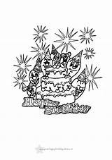 Birthday Coloring Printable Colouring Sheets Drawing Unicorn Adults Colour Balloons Golfrealestateonline Getdrawings Candacefaber sketch template
