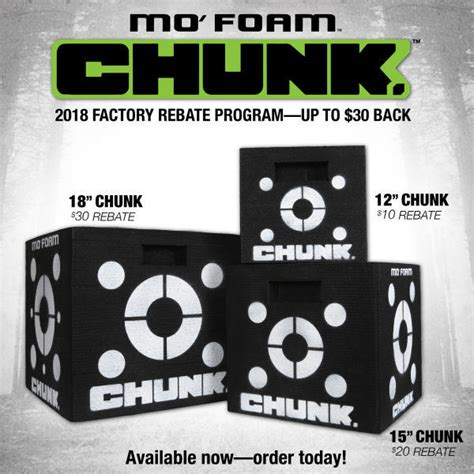 With Big Rebates by Big Rebates Available On Mo Foam Chunk Targets Archery