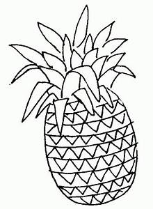 Pineapple Outline Drawing at GetDrawings | Free download