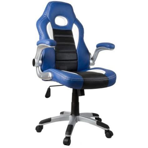 fauteuil de bureau sport racing fauteuil de bureau sport racing bleu et noir