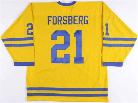 Peter Forsberg Team Sweden Autographed Authentic Jersey - PSA/DNA: GAMEWORNAUCTIONS.NET