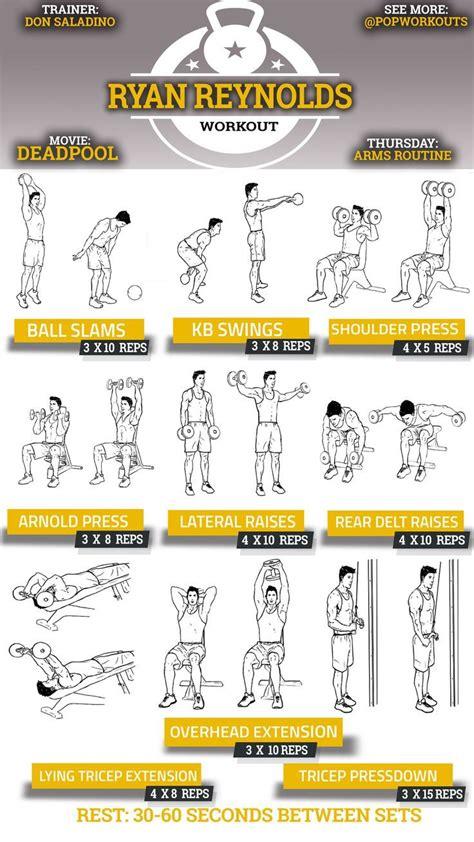 workout workouts exercises rock deadpool reynolds ryan fitness