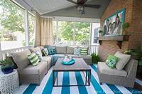 screened porch decorating ideas Lowe's Screen Porch and Deck Makeover Reveal