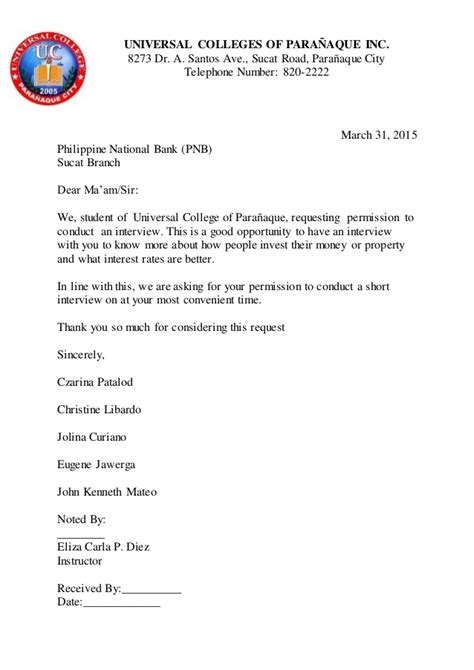 bank request letter