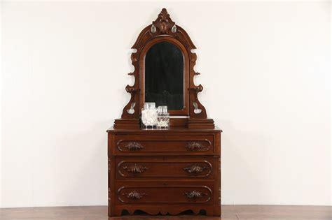 sold victorian  antique walnut chest  dresser
