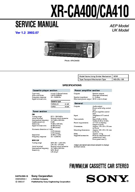 sony cdx ca400 wiring diagram 29 wiring diagram images