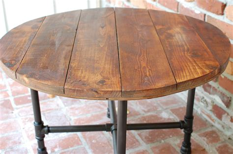 Round Coffee Table Industrial Wood Table 30 By