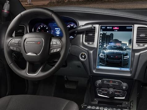 dodge puts tesla  touchscreen  charger police car
