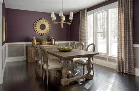 purple  grey dining rooms transitional dining room
