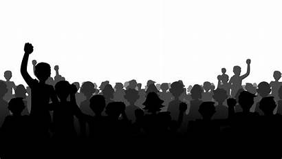 Crowd Silhouette Transparent Drawing Multitud Archivo Wikia