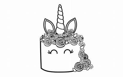 Unicorn Coloring Pages Cake Printable