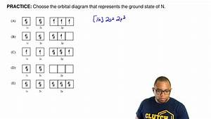 Choose The Orbital Diagram That Represents The Ground